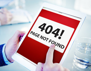Man Using Digital Tablet Page Not Found