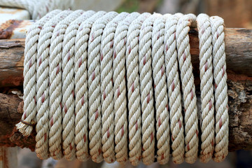 Old rope background texture