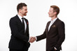 canvas print picture - handshake of two businessmen