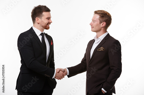 canvas print picture handshake of two businessmen