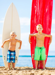 Young Boys with Surfboards