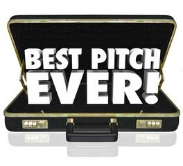 Best Pitch Ever Sales Presentation Proposal Briefcase