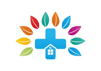 Healthy house icon