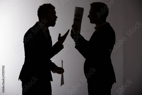 two businessmen arguing - 71517132