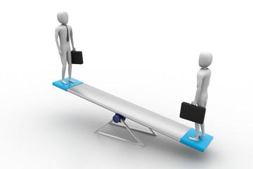 3d Peoples balancing