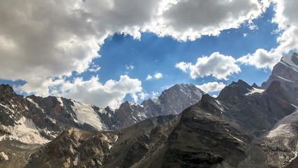 Valley of the Sun. TimeLapse. Pamir, Tajikistan