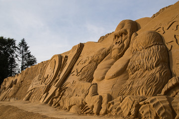 King Kong Sand Sculpture