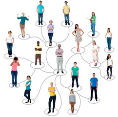 Connected people social network communication