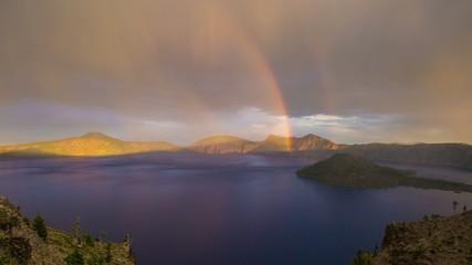 Crater Lake Rainbow Oregon 692