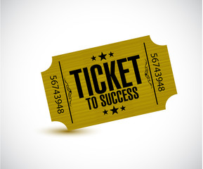 ticket to success concept illustration