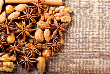anise, nuts and cinnamon