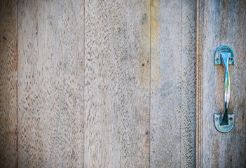 Texture and background of old  log with handle