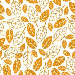 Autumn leaves pattern seamless