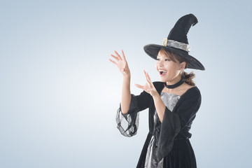 Asian witch woman