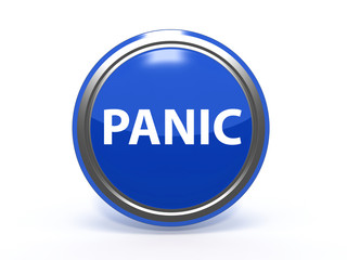 panic circular icon on white background