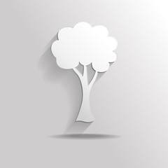 Trees flat icon