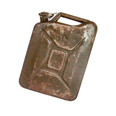 Old rusty gasoline canister