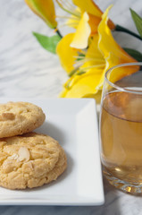 Apple juice and cookies
