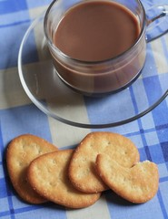 biscuits or  bread is crisp  and cup of coffee