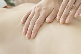 Estheticians massage the back poster