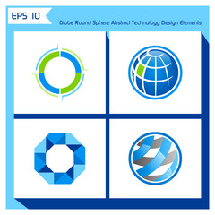 globe round sphere abstract technology design elements