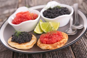 caviar, appetizer