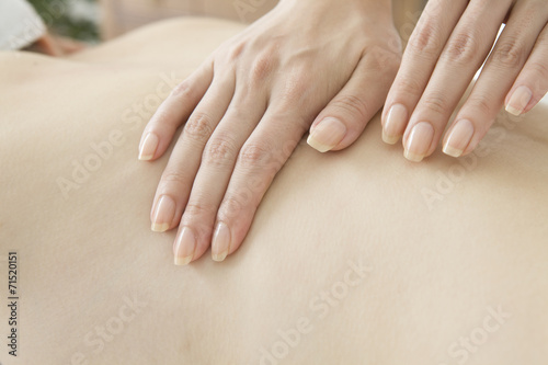 poster of Estheticians massage the back