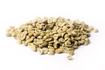 small heap of grain green coffee beverage preparation