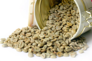 small heap of grain green coffee beverage preparation