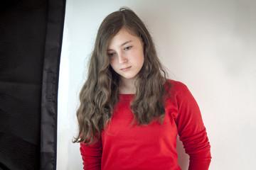 Beautiful serious teenage girl