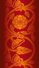 Waterlelie, trouwkaart ontwerp, royal India