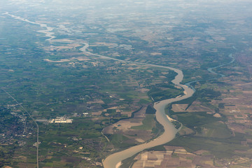 po river aerial view