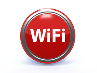 wifi circular icon on white background