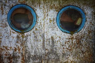 Two portholes