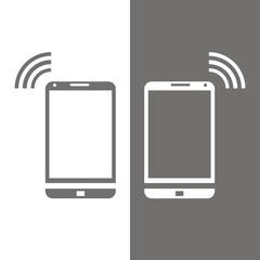 Icono smartphone BN