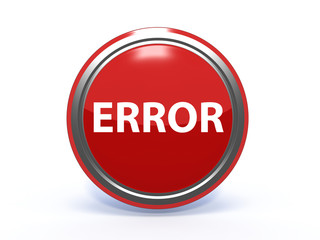 error circular icon on white background