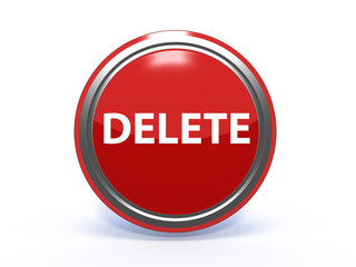 delete circular icon on white background