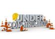 3d illustration under construction