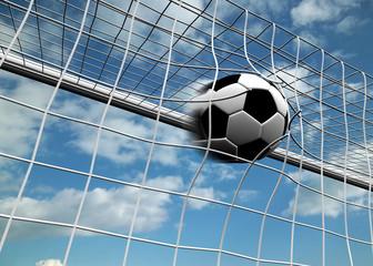 Soccerball in net - Goal concept
