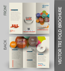 Shopping center Tri-fold Brochure Design Element