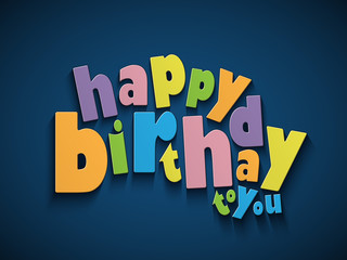 """HAPPY BIRTHDAY"" Card (party invitation card message)"