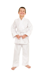 boy in white kimono