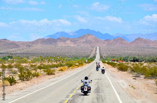 Leinwanddruck Bild moto route 66