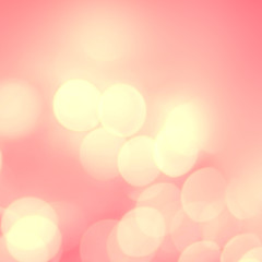 Pink and golden  holiday bokeh. Abstract Christmas background. D