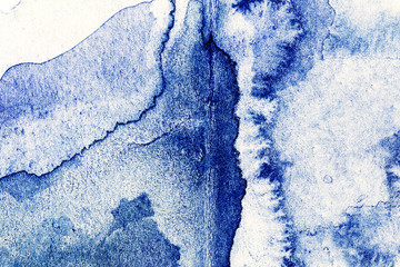 Abstract hand drawn watercolor background, raster illustration.