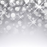 Fototapety Silver christmas starry background.