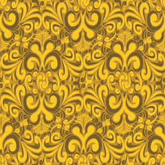 Seamless vintage yellow background
