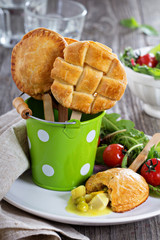 Savory hand pies with chicken