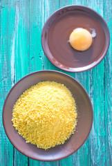 panco and raw egg