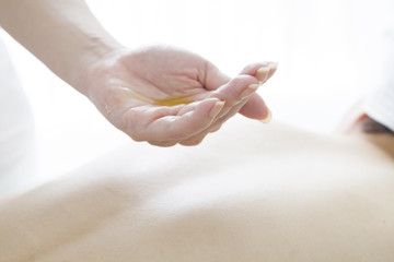 Esthetician you begin oil massage